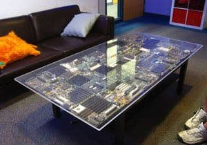 From PC To Cup Of Tea. Circuit Board Coffee Table