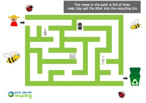 recycling maze game