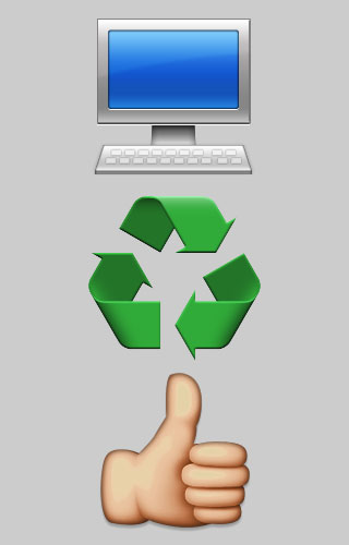 computer recycling graphic