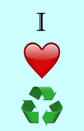 I love recycling graphic