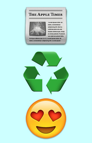 paper recycling graphic