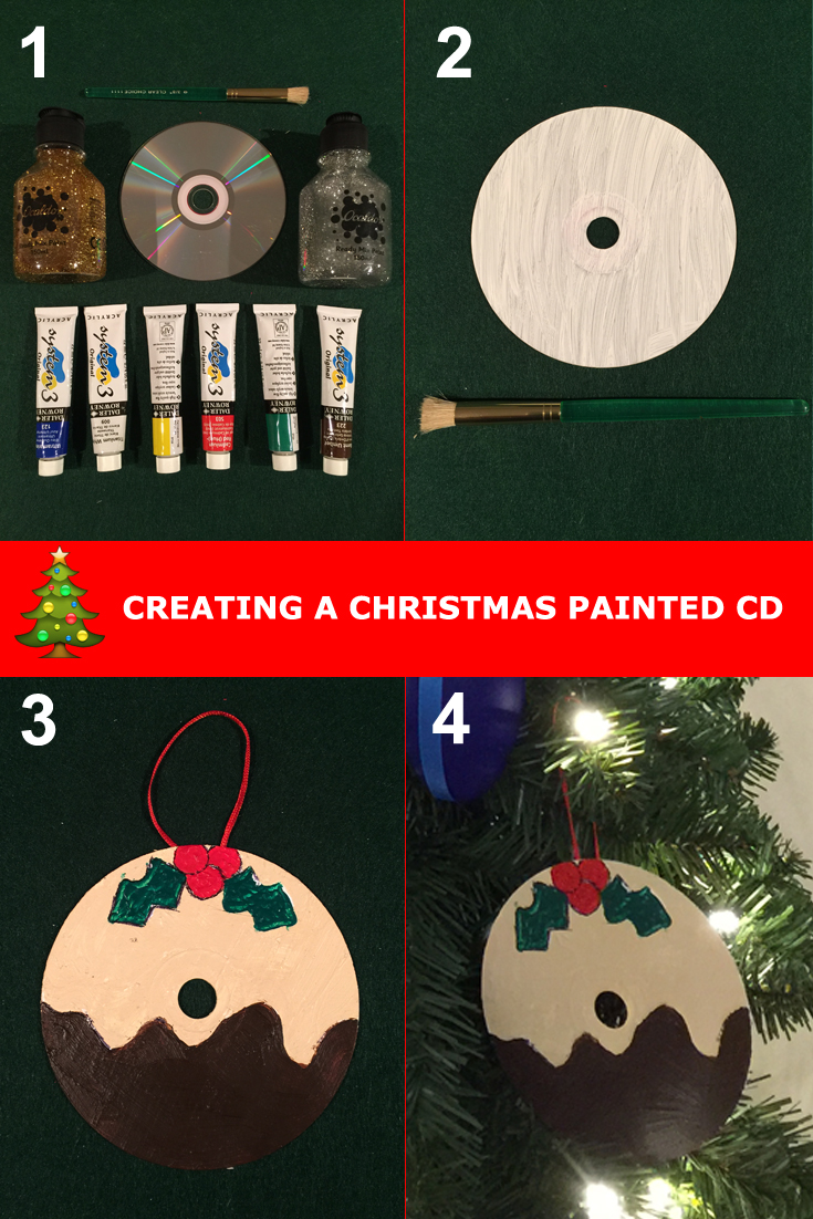 christmas painted cds
