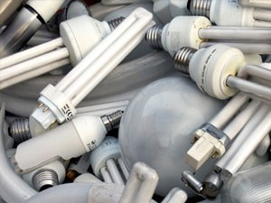 waste light bulbs