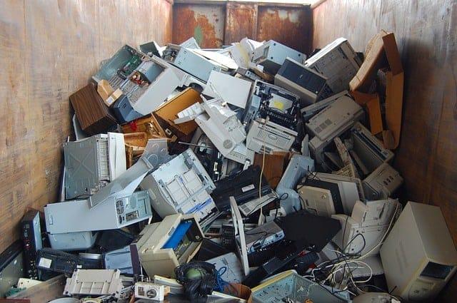 e-waste in skip